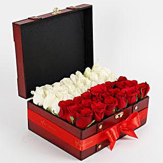 Heavenly Rose Arrangement: Karwa Chauth Gifts