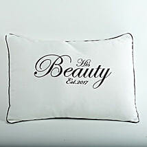 His Beauty Personalized Cushion: Gift Delivery in Neemuch