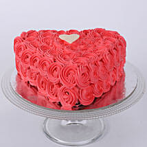 Hot Red Valentine Heart Cake: Designer Cakes to Ahmedabad