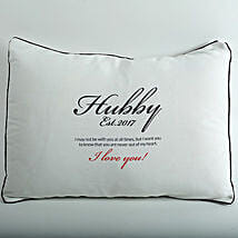 Hubby Love Personalized Cushion: Hyderabad anniversary gifts