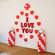 I Love You Balloon Decor: Anniversary Decoration Services