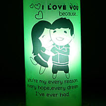 I Love You Because Lamp: