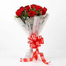 Impressive Charm- Bouquet of 10 Red Roses: Send Flowers to Sirsa
