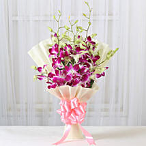 Impressive Orchids Bouquet: Anniversary Flowers for Her
