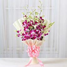 Impressive Orchids Bouquet: Girlfriend Day Flowers