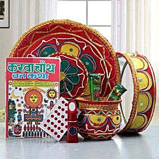 Karwa Chauth Thali Hamper: Karwa Chauth Pooja Thali