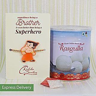 Kids Rakhi And Rasgulla Combo: Send Rakhi for Kids