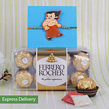 Kids Rakhi With Ferrero Rocher: Send Rakhi for Kids