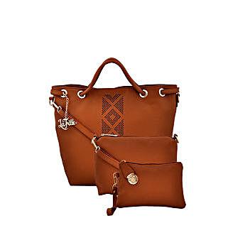 LaFille Elegant Tan Handbag Set: Buy Handbags