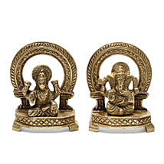Lakshi Ganesha Brass Idol: Spiritual Gifts Delivery to Delhi