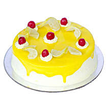 Lemon Vanilla Cake: New Year Cakes to Kanpur