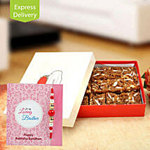Loaded with sweet wishes: Send Rakhi With Sweets to Faridabad