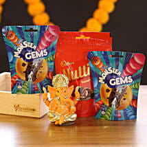 Lord Ganesha Idol & Choco Candies: Diwali Chocolates