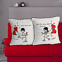 Love Couple Cushion: Valentines Day Gifts Kota