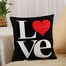 Love Cushion Black: Send Personalised Gifts to Wardha