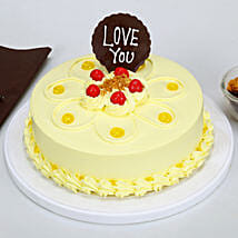 Love You Valentine Butterscotch Cake: Cakes to Chhindwara