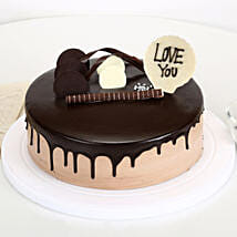 Love You Valentine Chocolate Cake: Cakes to Kollam