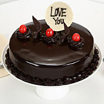 Love You Valentine Truffle Cake: Cake Delivery in Coimbatore