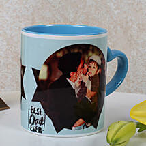 Lovely Personalized Blue Mug: Custom Photo Coffee Mugs