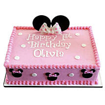 Lovely Pink Minnie Mouse Cake: Send Minnie Mouse Cake