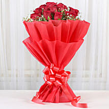 Lovely Red Roses Bouquet: Send Flowers to Aligarh