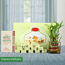 Lucky Bamboo Rakhi Love: Send Rakhi to Mathura