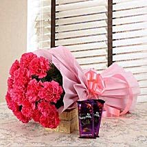 Magnificent Combo: Send New Year Flowers & Chocolates