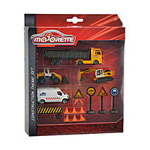 Majorette Construction Theme Set with Cool Dude Smiley: Toy Vehicles