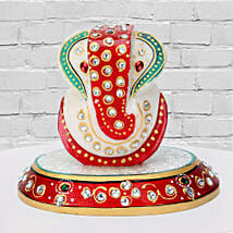 Marble Ganesha On A Chowki: Diwali Gifts to Ranchi
