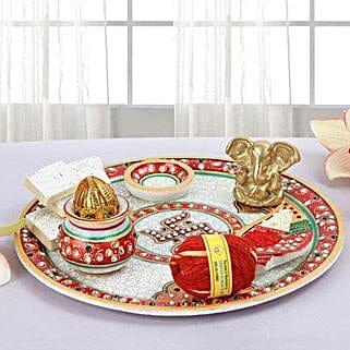 Marble Pooja Thali: Handicrafts for Diwali