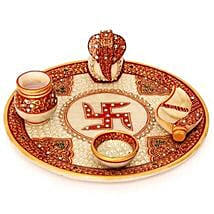 Marble Puja Thali: Handicrafts to Pune