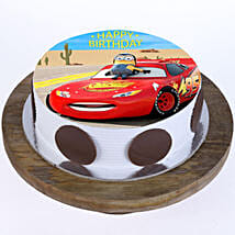 McQueen Photo Cake: 1st Birthday Cakes
