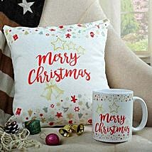 Merry Xmas Cushion N Mug Combo: Send Christmas Gifts? to Noida