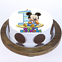 Mickey Mouse 1st Bday Cake:
