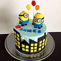 Minions with balloons: Cakes for 2Nd Birthday