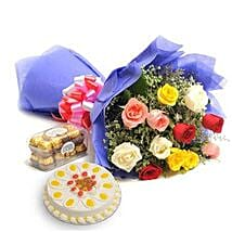 Mix Love Hamper: Send Flowers & Chocolates to Faridabad