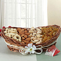 Mixed Basket Of Dry Fruits: Send Bhai Dooj Gifts to Faridabad