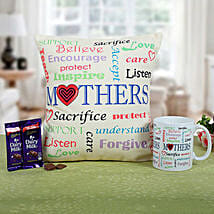 Mom Special Cushion N Coffee: Womens Day Gifts Gurgaon