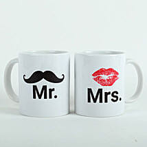 Mooch N Lips Couple Mugs: Send Gifts to Neemuch