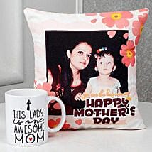 Mothers Day Cushion N Mug Surprise: Personalised gifts for Mother's Day