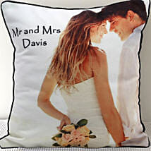 Mr n Mrs Personalized Cushion: Personalised Gifts Wardha