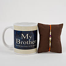 Mug With Beautiful Rakhi: Send Rakhi to Rudrapur