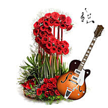 Music and Moon Arrangement for Beloved: Send Thanks Giving Day Flowers