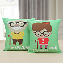Nanu Nani Cushion: Grand Parents Day Gifts