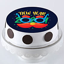 New Year 2020 Pineapple Photo Cake: New Year Special Cakes