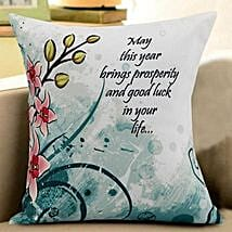 New Year Wishes Cushion: New Year Gifts for Family
