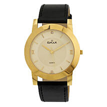 Omax Analog Golden Dial Mens Watch: Watches for Him