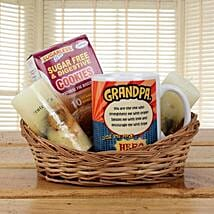 Orange Basket For Grandpa: Grand Parents Day Gifts