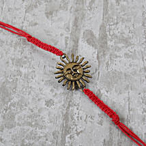 Ornamental Red Bracelet Rakhi: Send Bracelet Rakhi