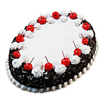 Oval Blackforest Spell 1kg Parent: Cake Delivery in Vellore